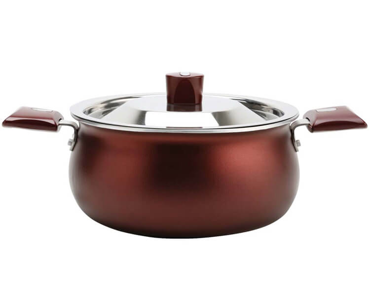 Nirlep produces induction base handi non stick handi is specially designed with lid allowing - Thermometre cuisine compatible induction ...